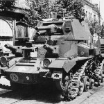 Abandoned Cruiser Mk I A9 tank of the 1st Armoured Division, Calais – 27 May 1940