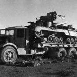 Mack EXBX 18-ton 6×4 tank transporter with Cruiser Mk I CS, A9, North Africa