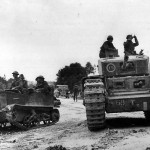 51st Royal Tank Regiment Universal Carrier and Churchill Tank Tunisia 1943