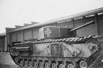 Captured British Churchill tank