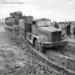 Churchill II on Trailer M19 Tank Transporter