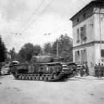 Churchill Mk III tank after Dieppe