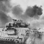 Churchill tank Calgary 8th Army Senio River Italy 1945