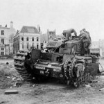 Destroyed Churchill BERT tank in Dieppe 1942