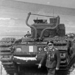 Luftwaffe Officer next to the Churchill tank Dieppe