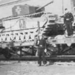 German Churchill tank rail transport