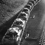 Trainload of Covenanter tanks 42