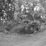 camouflaged A10 Cruiser tank Mk II of the 2nd Armoured Brigade at Foucaucourt May 1940