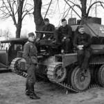 German tank A13 Mk II (Cruiser Tank Mk IV) with crew
