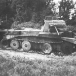 Burned out A13 Mk I (Cruiser tank Mk III) France 1940