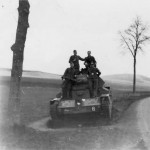 A13 tank cruiser mk IV and wehrmacht soldiers