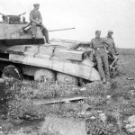 A13 Mk II tank destroyed