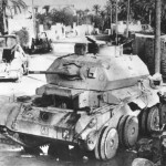 Destroyed British Cruiser Tank A13 Mk II in Tobruk