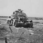Destroyed A13 Mk II Tank North Africa