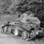 knocked out A13 Cruiser tank Mk IV road between Huppy and St Maxent May 1940