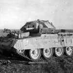 Crusader II fitted with sand guards tank North Africa