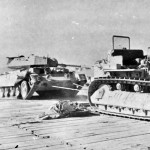 Crusader II tank being recovered Egypt 1942