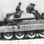 Crusader tank in german service