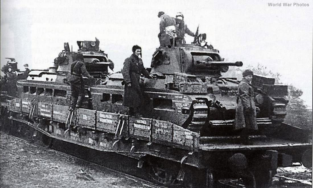 Matildas on the way to frontline South-Western Front April 1942