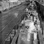 A11 Matilda tanks of 4th RTR being transported by train France 1939