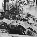 7th Australian Division Matilda Tank in Action at Balikpapan 1945