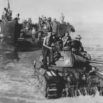 Australian Matilda Tank Landed At Toko Beach 1945
