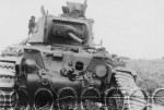 British infantry tank Matilda II front view