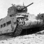 Destroyed Matilda tank North Africa