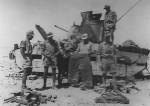 Matilda tank and DAK soldiers