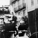 Matilda tank on german trailer