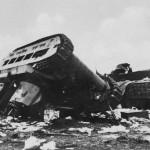 Soviet Matilda tank upside down