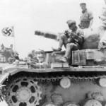 Captured British tank Matilda Mk II and Panzer III of Afrika Korps