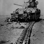 Destroyed Matilda tank T18934 – North Africa