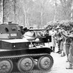 Gen Sir Alan Brooke inspecting a Tetrarch T9281 at the Army Staff College 6 January 1941