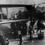 """Albacore """"∅L"""" BF653 from 820 Squadron, HMS Formidable, during Operation Torch"""