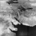 Albacore torpedo bombers of 821 Squadron over Malta in 1943