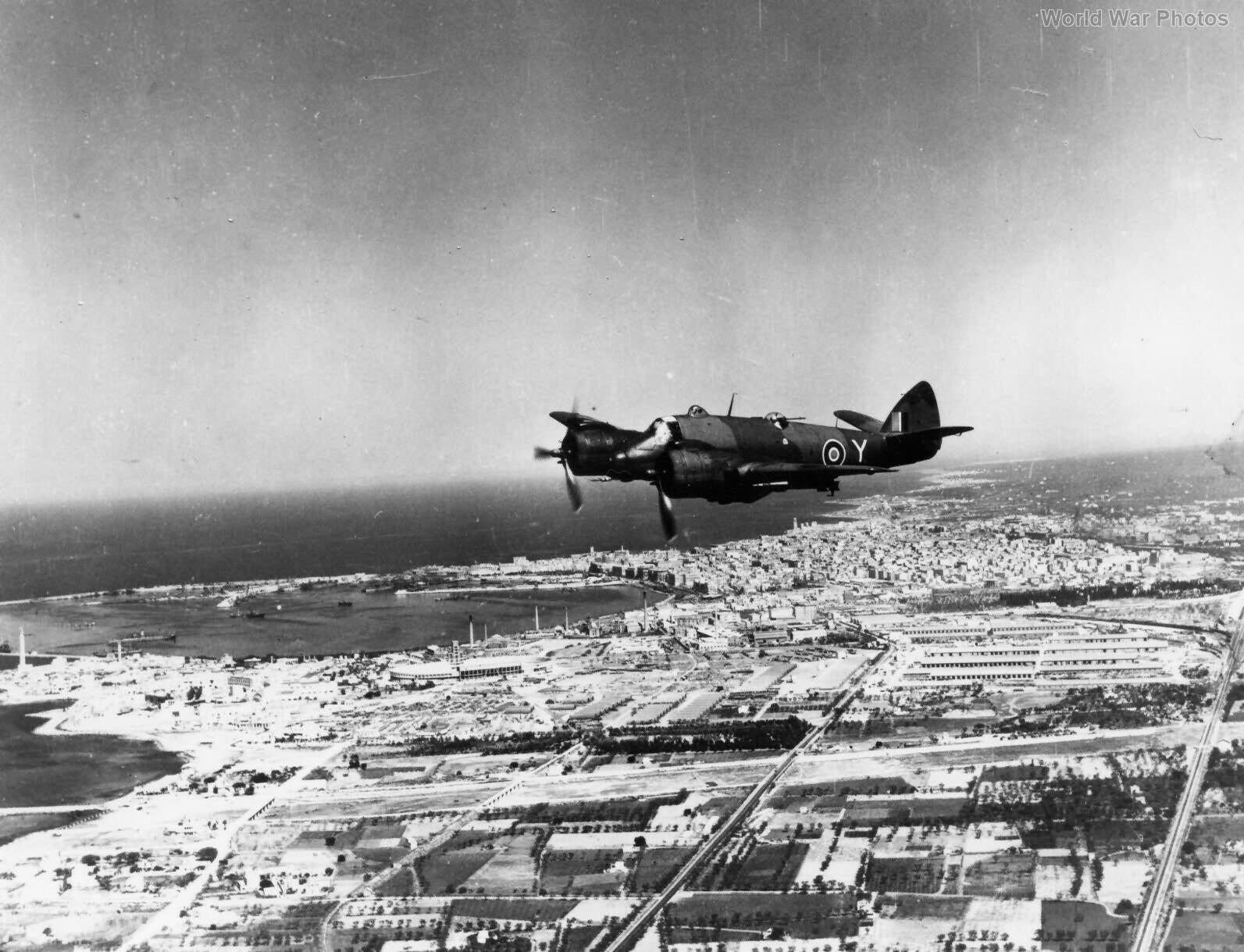 Beaufighter 16 Sqn SAAF over Benghazi