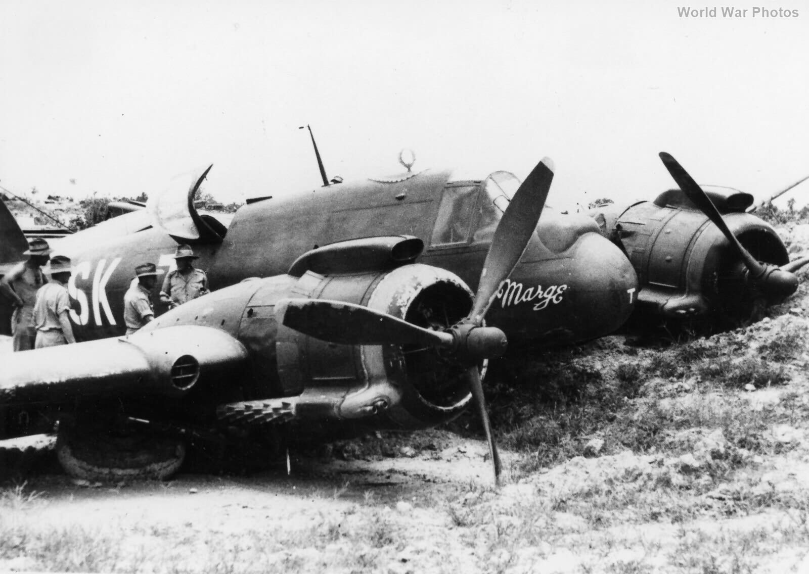 Beaufighter A8-124 93 Sqn crashed Labuan 30Aug1945