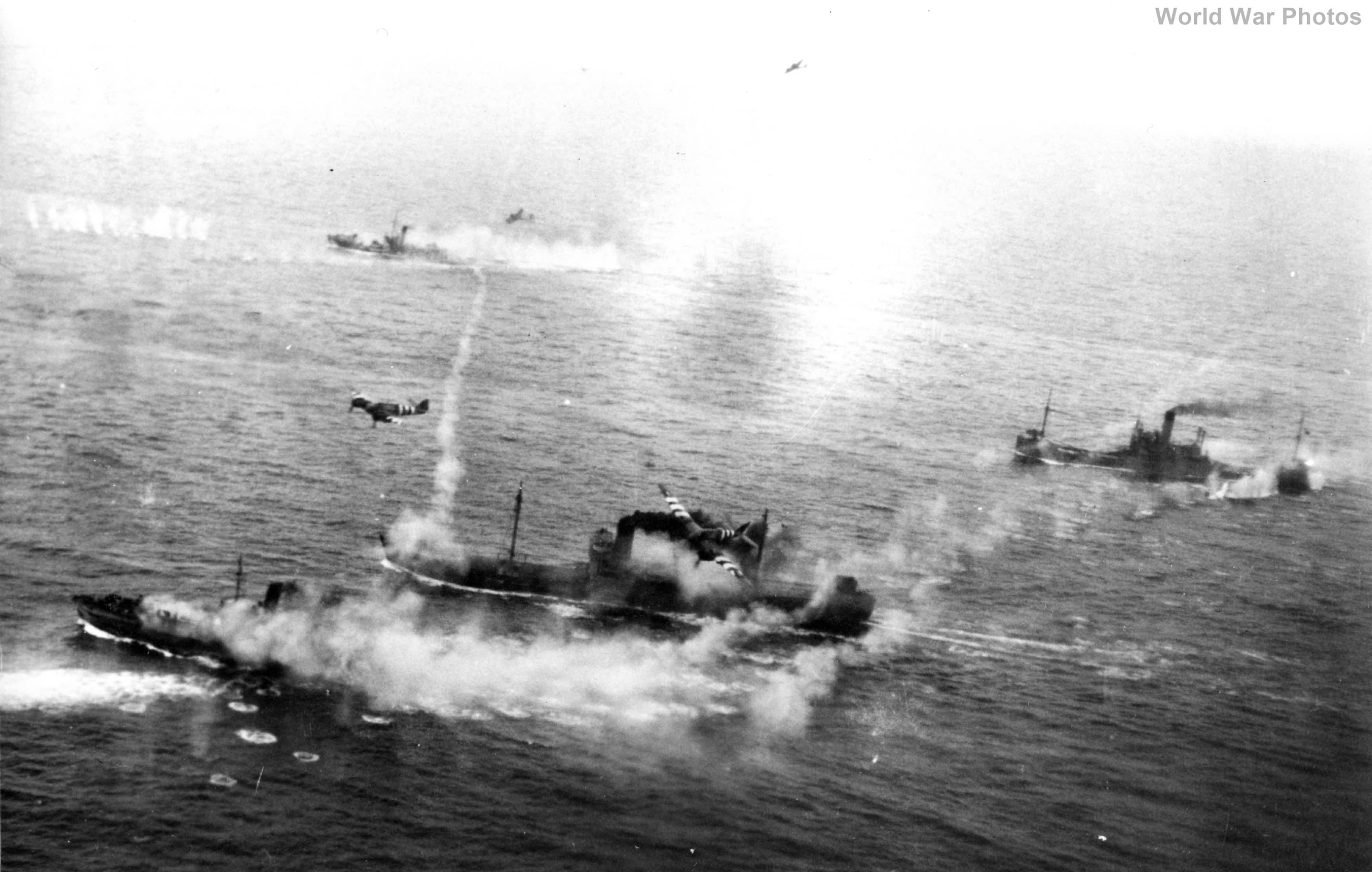 Beaufighters attacking ships off The Naze