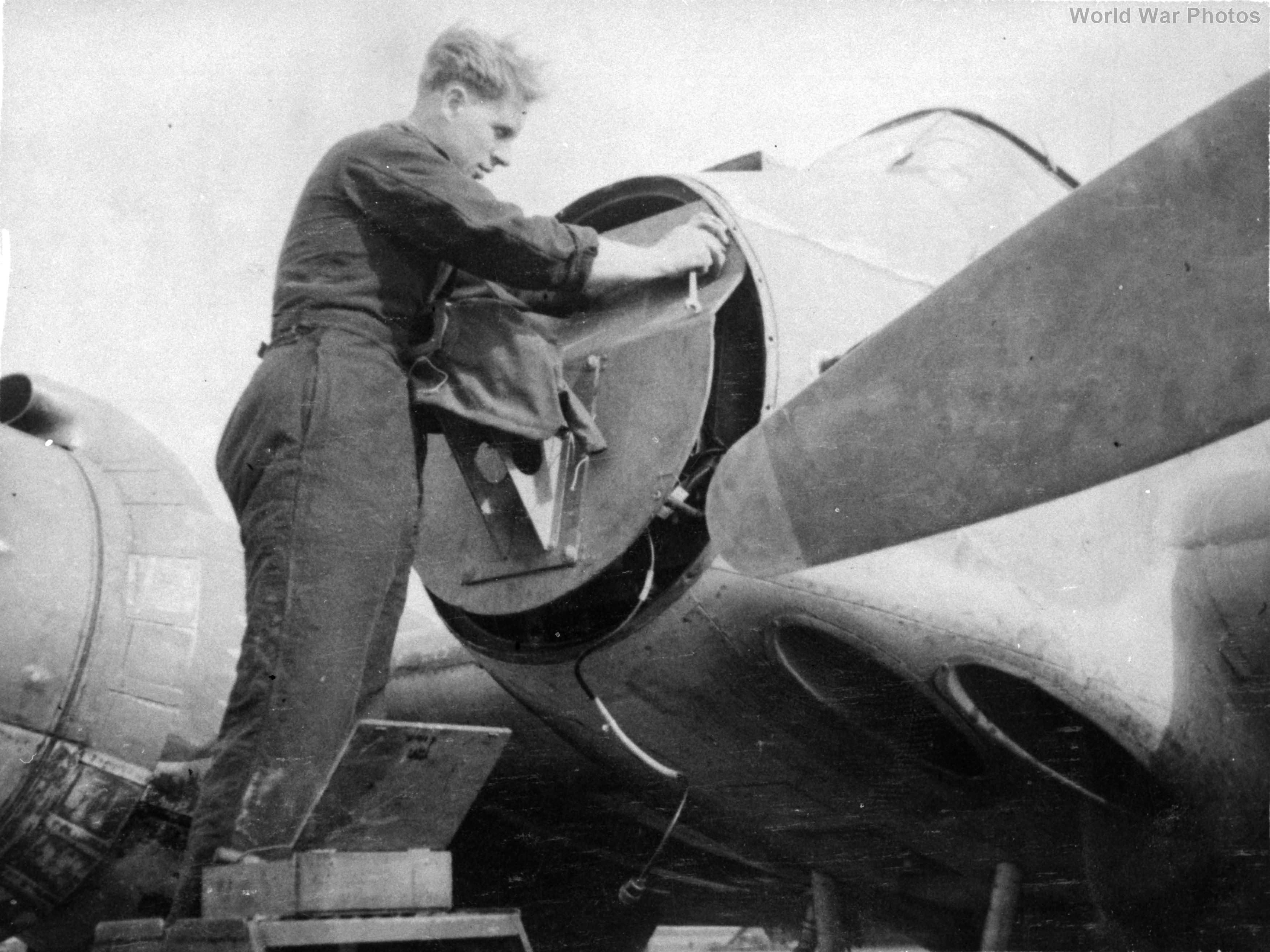 nose mounted armour plate of a Beaufighter