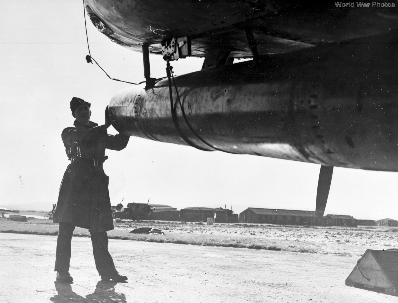 torpedo under a Bristol Beaufighter