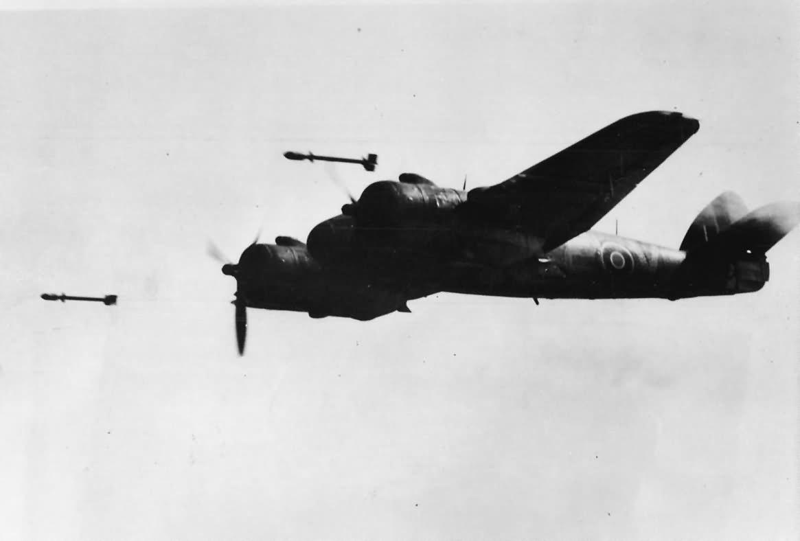 Bristol Beaufighter Firing Rockets