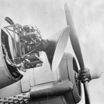 Air Interception radar AI Mk VIIIA mounted on the nose of a Bristol Beaufighter Mk VIF night fighter