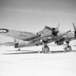 Beaufighter Mk IC T3316 code 'M' of No 272 Squadron RAF on the ground at Idku Egypt 1942