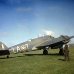 Beaufighter Mk IC T4916 code LA-T of No. 235 Squadron RAF (color photo)