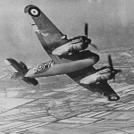 Beaufighter Mk IF PN-B R2158 of No. 252 Squadron RAF 1942 in flight