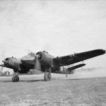 Beaufighter Mk VIF V8380 code 'K' of No. 89 Squadron RAF running up its engines at Castel Benito Libya