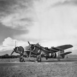 Beaufighter TF Mk X NE798 of No 455 Squadron RAAF carrying two 500 lb bombs
