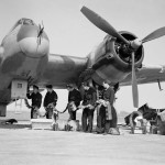 Beaufighter Mk VIF V8748 code ZJ-R of No 96 Squadron being re armed at Honily 23 March 1943