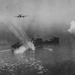 Beaufighter attacking enemy ship North Sea